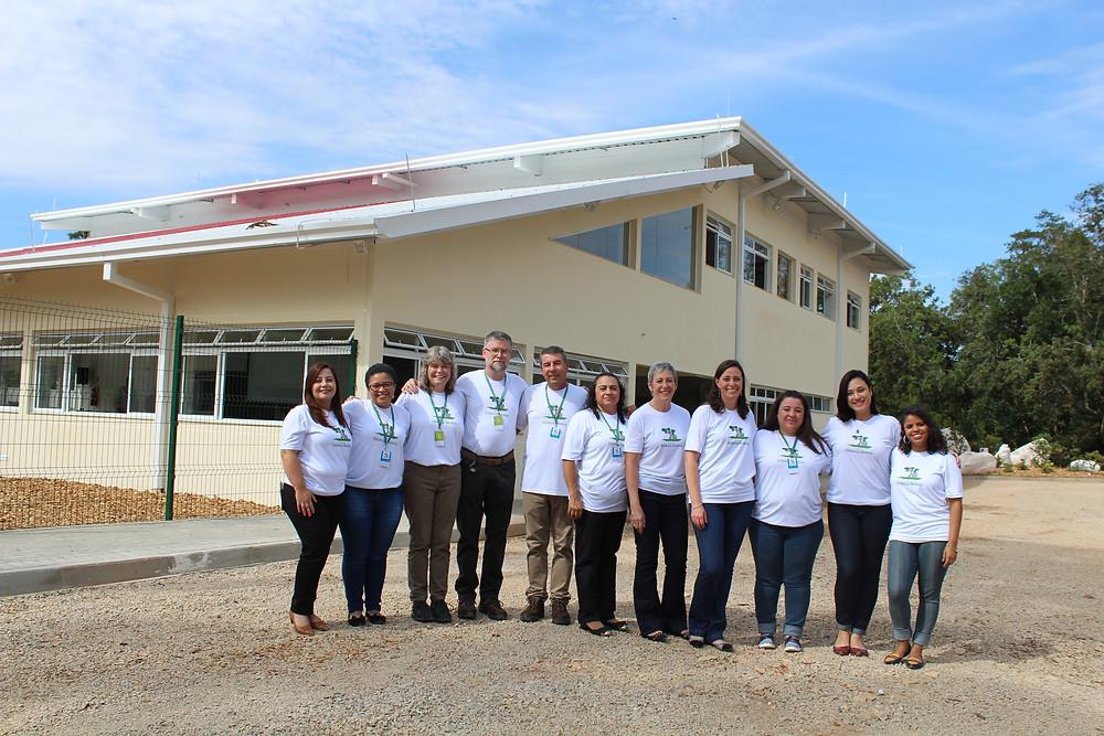 Equipe pedagógica da nova Escola Estância Betânia