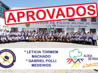Aprovação de alunos no Colégio da Polícia Militar