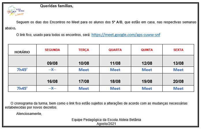 Aviso 05/08/2021