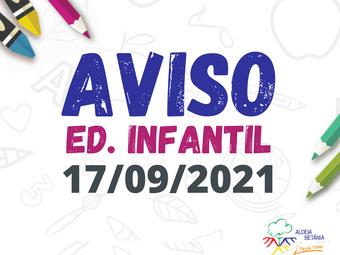 Comunicado - Ed. Infantil - 17/09/2021