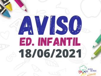 Comunicado - Ed. Infantil - 18/06/2021