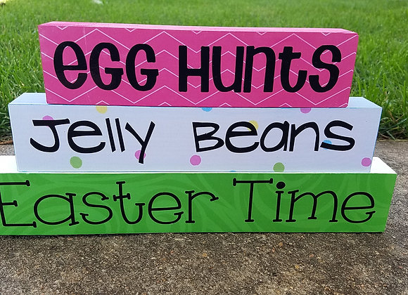 Easter Stacked Words