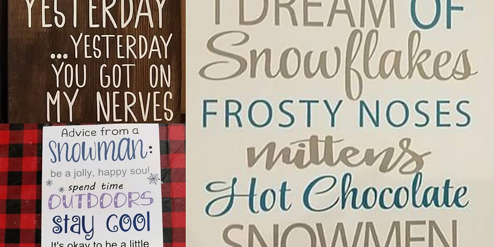 Winter and Valentine signs