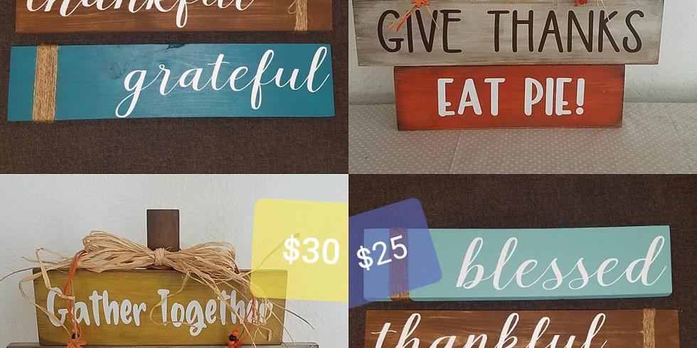 Pumpkin or Grateful, Thankful, Blessed