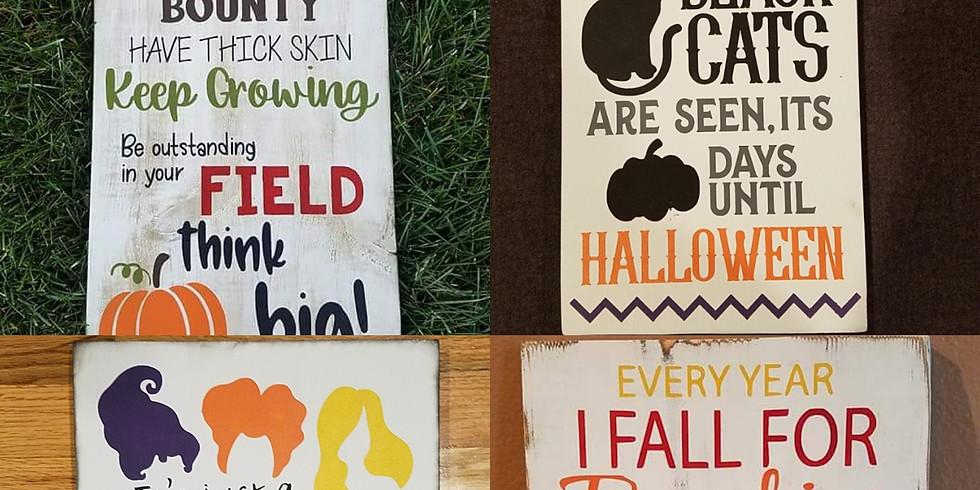 Halloween/Fall Signs-Thursday