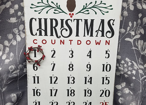 Christmas Countdown 12 by 18