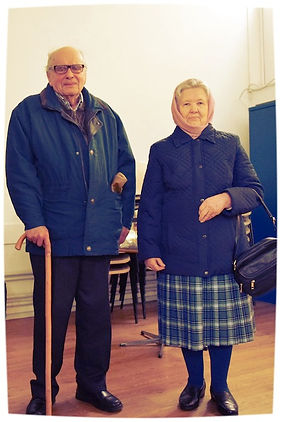 Early Parishoners of the Orthodox Church in Swindon: Leon and Irina Soroka