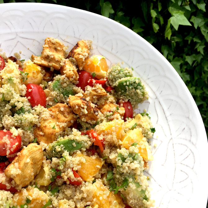 Chicken Avocado Quinoa Salad Recipe