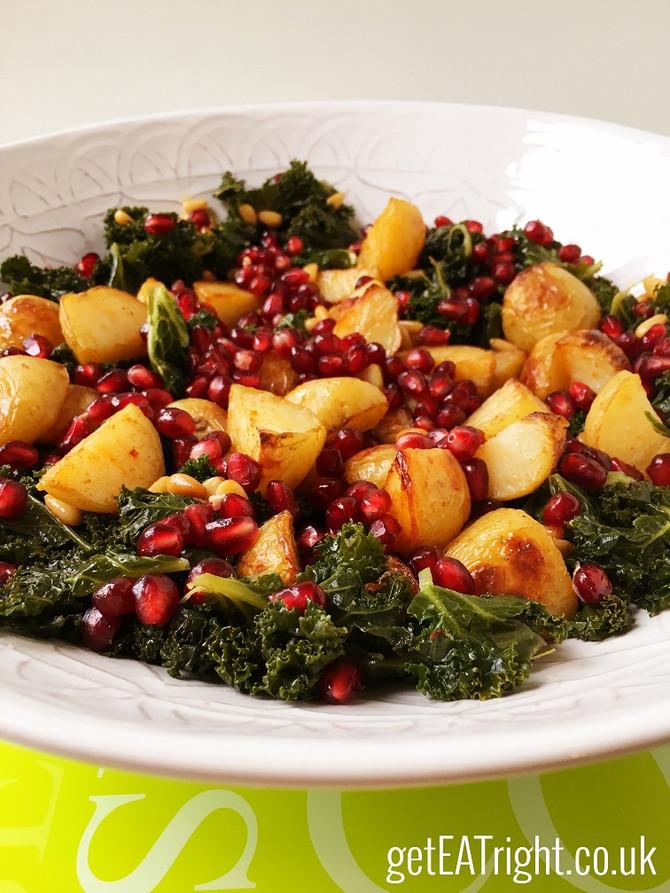 Kale, Potato & Pomegranate Salad RECIPE
