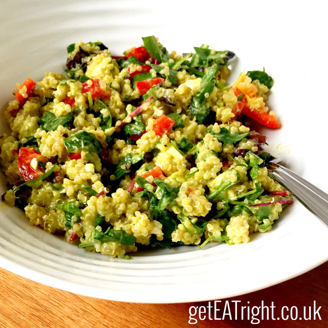 Delicious QUINOA SALAD (Check out this amazing DRESSING!)