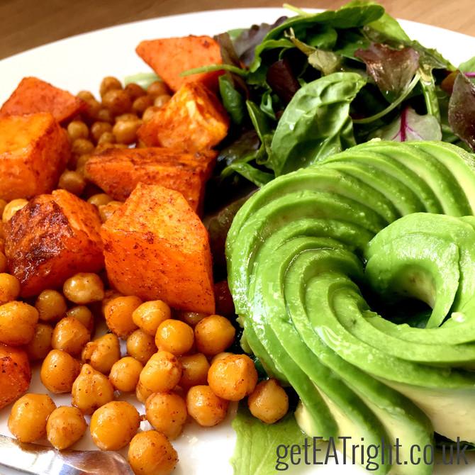 SWEET POTATOES & CHICKPEAS LUNCH PLATE (Vegan/ Gluten Free/ Dairy Free)
