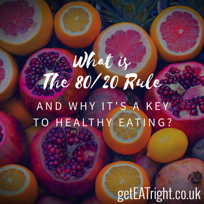 What is THE 80/20 RULE and why it's a key to healthy eating?
