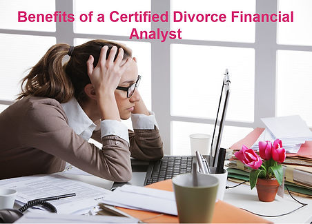 Certified divorce financial Analyst benefits