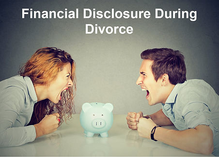 Financial Disclosure During Divorce