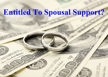entitled to spousal support