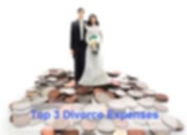 Top 3 divorce expenses