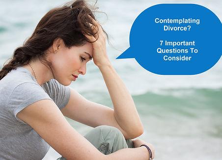 Contemplating Divorce Questions