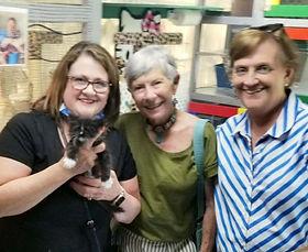Janet Sukkar, an Oschner's Nurse from Mandeville came for our Tuxedo Ragamuffin & named him BOCELLI.