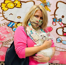 """Holley Haag, a Banker, came from Metairie La on 8-14-21 to get Gracie & Leo's Lynx Male Ragamuffin she named  """"PRINCE LEO FLUFFINGTON"""""""