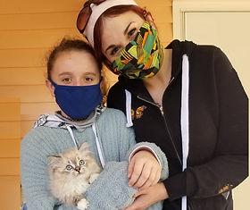 Rebecca & Cora Martinez came from Dallas TX for their favorite Lynx Ragdoll female.