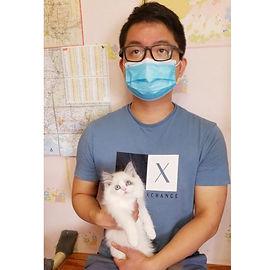 "Xiao Wei Lin came from Natchez MS to get his favorite Blue Bicolor Ragdoll & he named him ""Ganshou"""