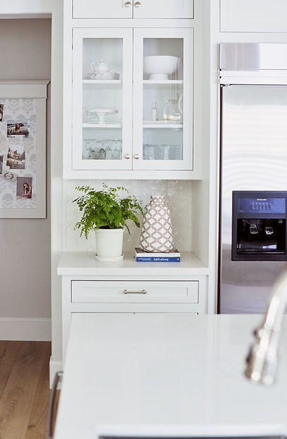 House By The Sea Glass Cabinets Kitchen