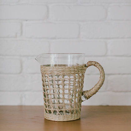 Seagrass Cage Pitcher
