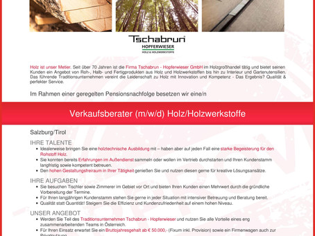 Verkaufsberater (m/w/d) Holz/Holzwerkstoffe