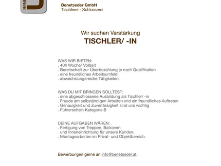 TISCHLER/ -IN