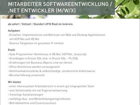 MITARBEITER SOFTWAREENTWICKLUNG / .NET ENTWICKLER (M/W/X)