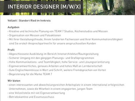 INTERIOR DESIGNER (M/W/X)