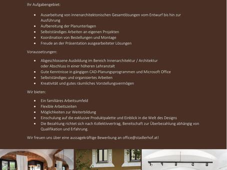 e Innenarchitektin / einen Innenarchitekten oder eine Architektin / einen Architekten