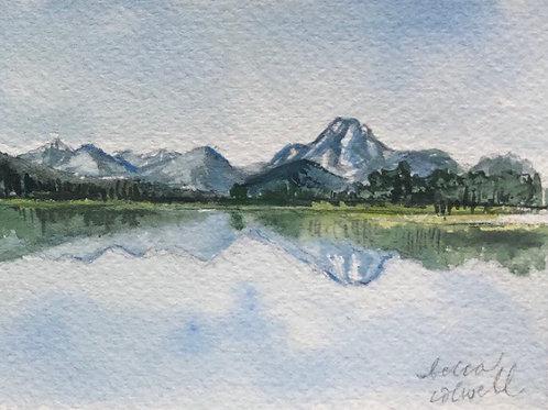 "Jackson Lake no. 2 — 3"" x 4"""