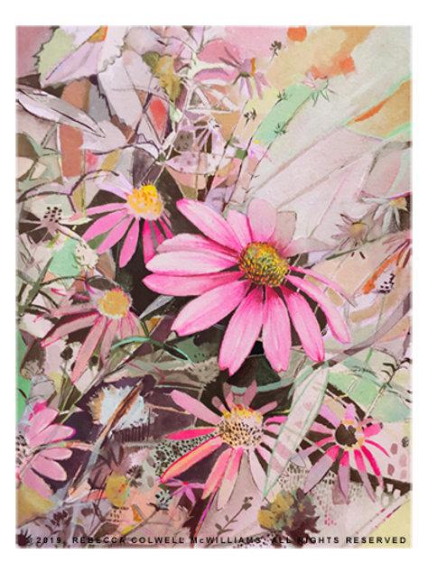 """Echinacea Oasis II 7.5"""" x 10"""" Print"""
