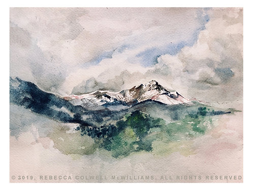 "Pikes Peak, 9"" x 12"" Print"