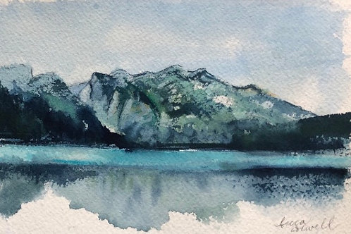 "Made it to Phelps Lake, 4"" x 6"""