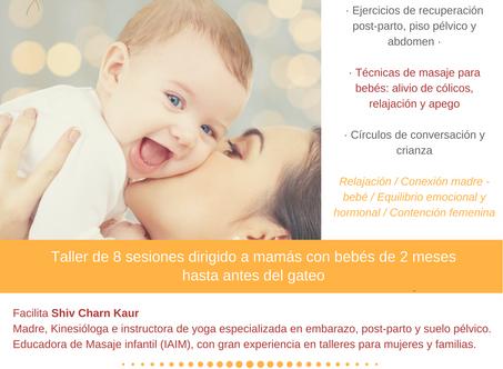Taller de yoga post-parto y masaje infantil