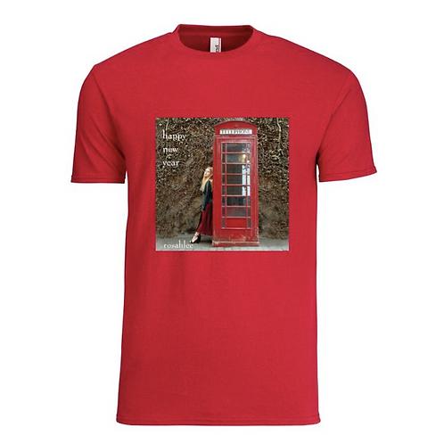 Happy New Year, unisex t-shirt (red) Premium