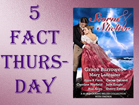 5 Fact Thursday - The Queen's Barque Inn from Storm and Shelter @RueAllyn #regency #anthology