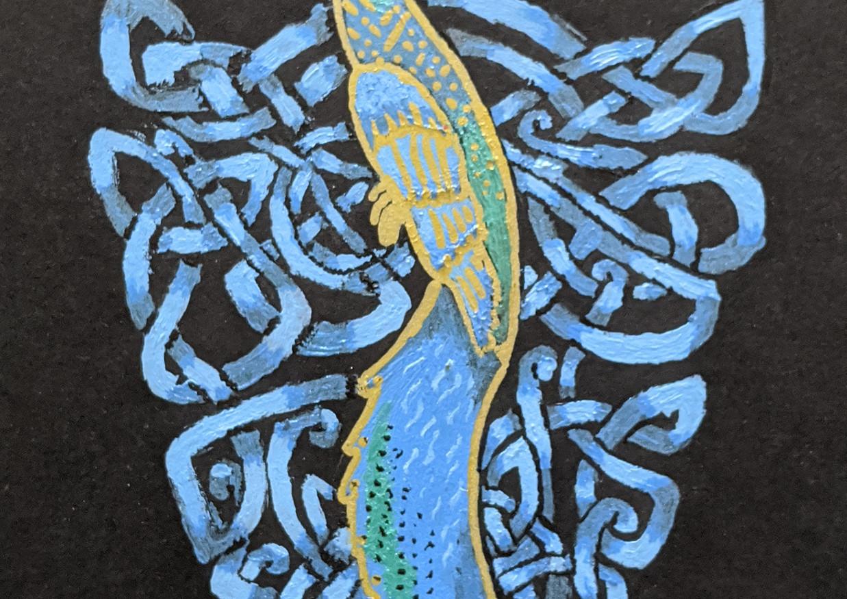 Celtic Peacock - Emblem close up