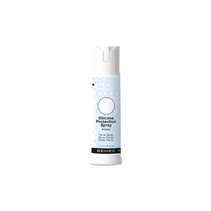 Fine silicone mist provides the skin with a breathable barrier against the environment and moisture loss.