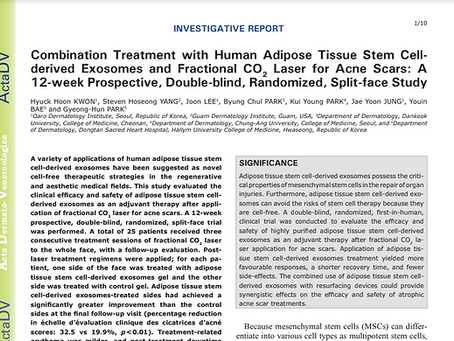 Investigative Report on Fractional C02 Laser and and Human Adipose Tissue Stem Cell-derived Exosomes