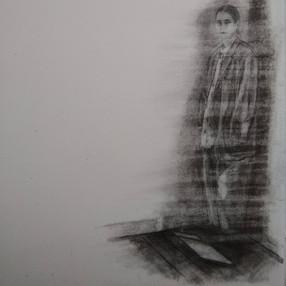 Light Falls (Self-Portrait with Oversized Jacket