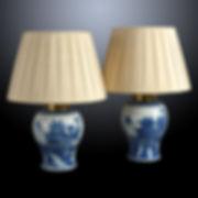 Pair of Blue & White Lamps.jpg