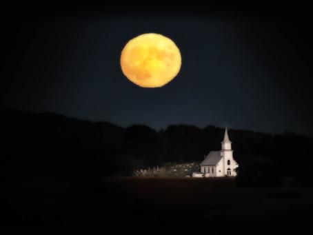Moon Over St. Katherine's Lutheran Church
