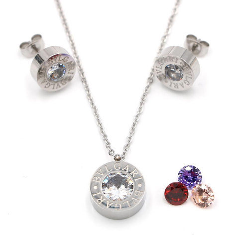 High quality BVLGARI earring & necklace