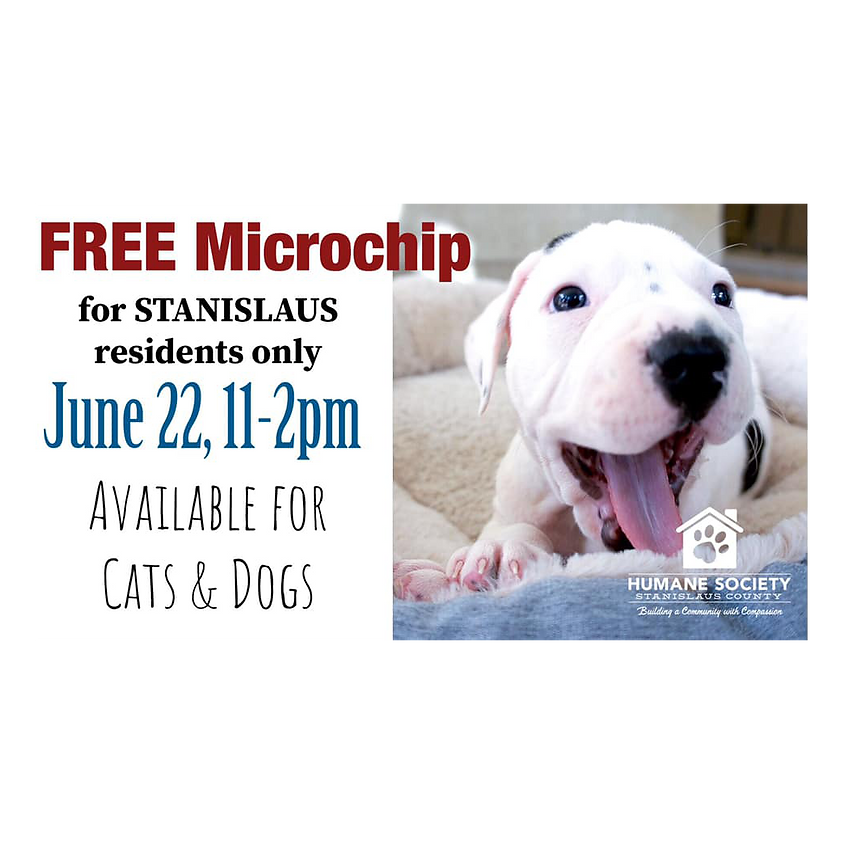 Stanislaus County Free Microchip Event