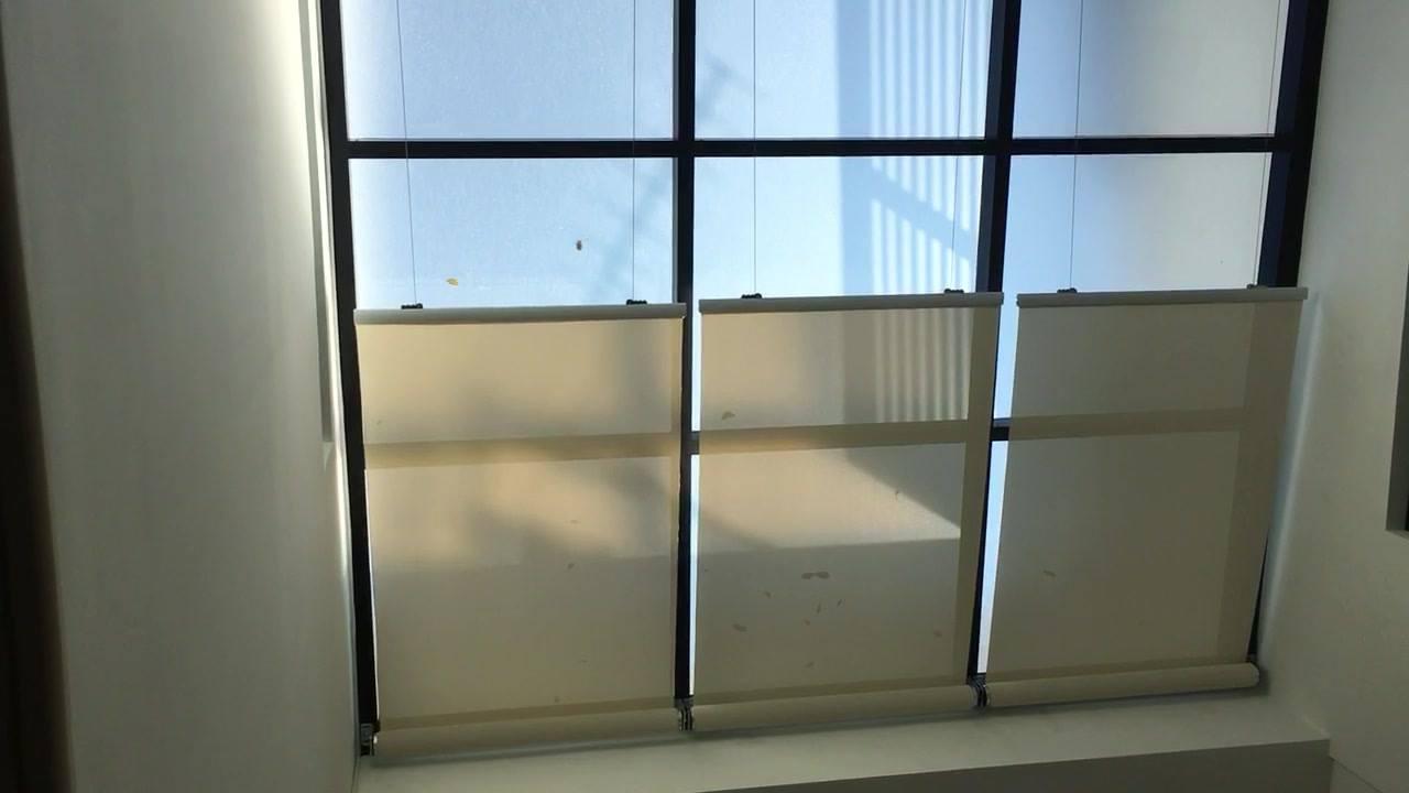小㰖 獨立屋玻璃頂加裝電動回卷式遮陽天幕 2