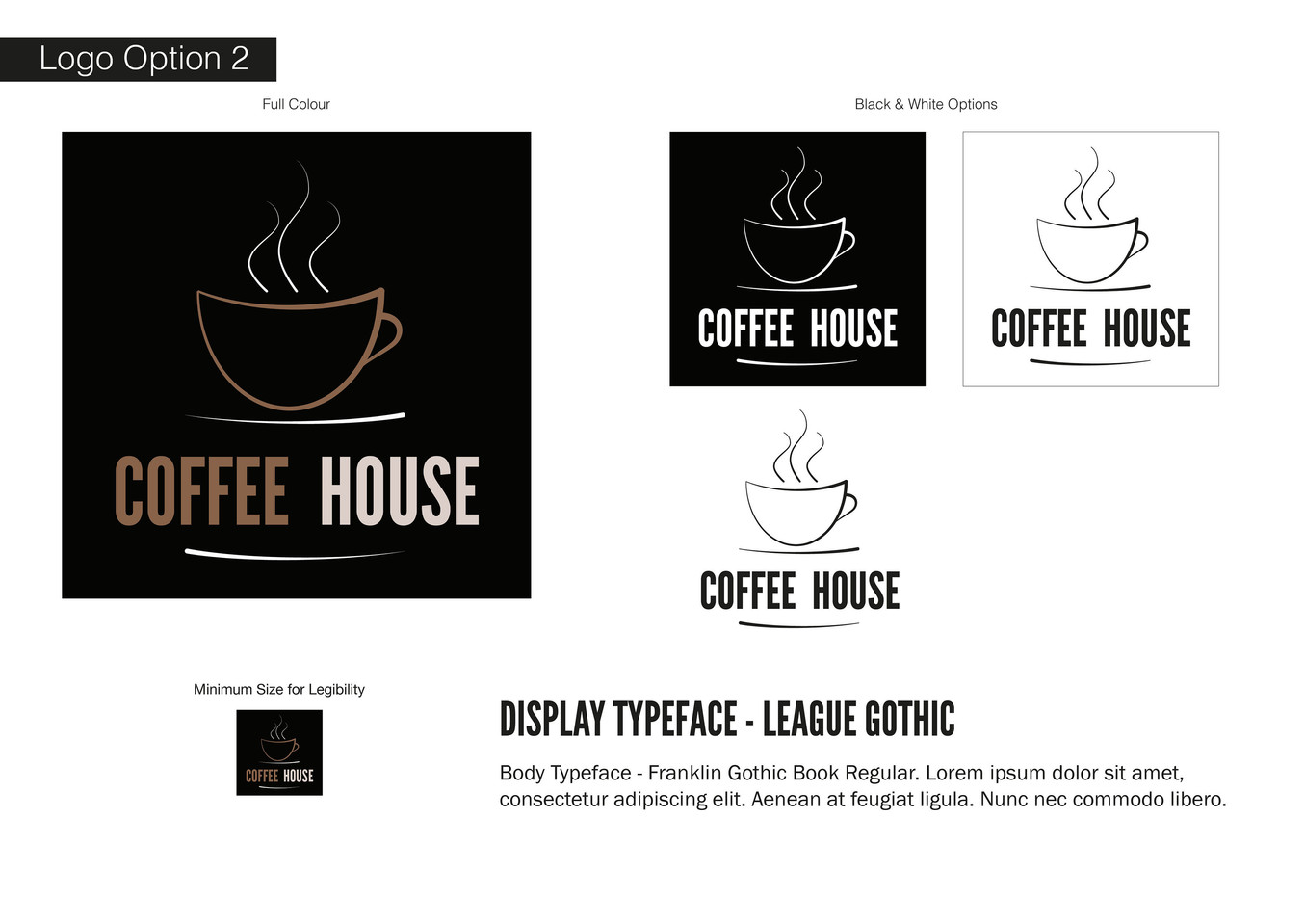 Coffee House Visual Identity - Development 2