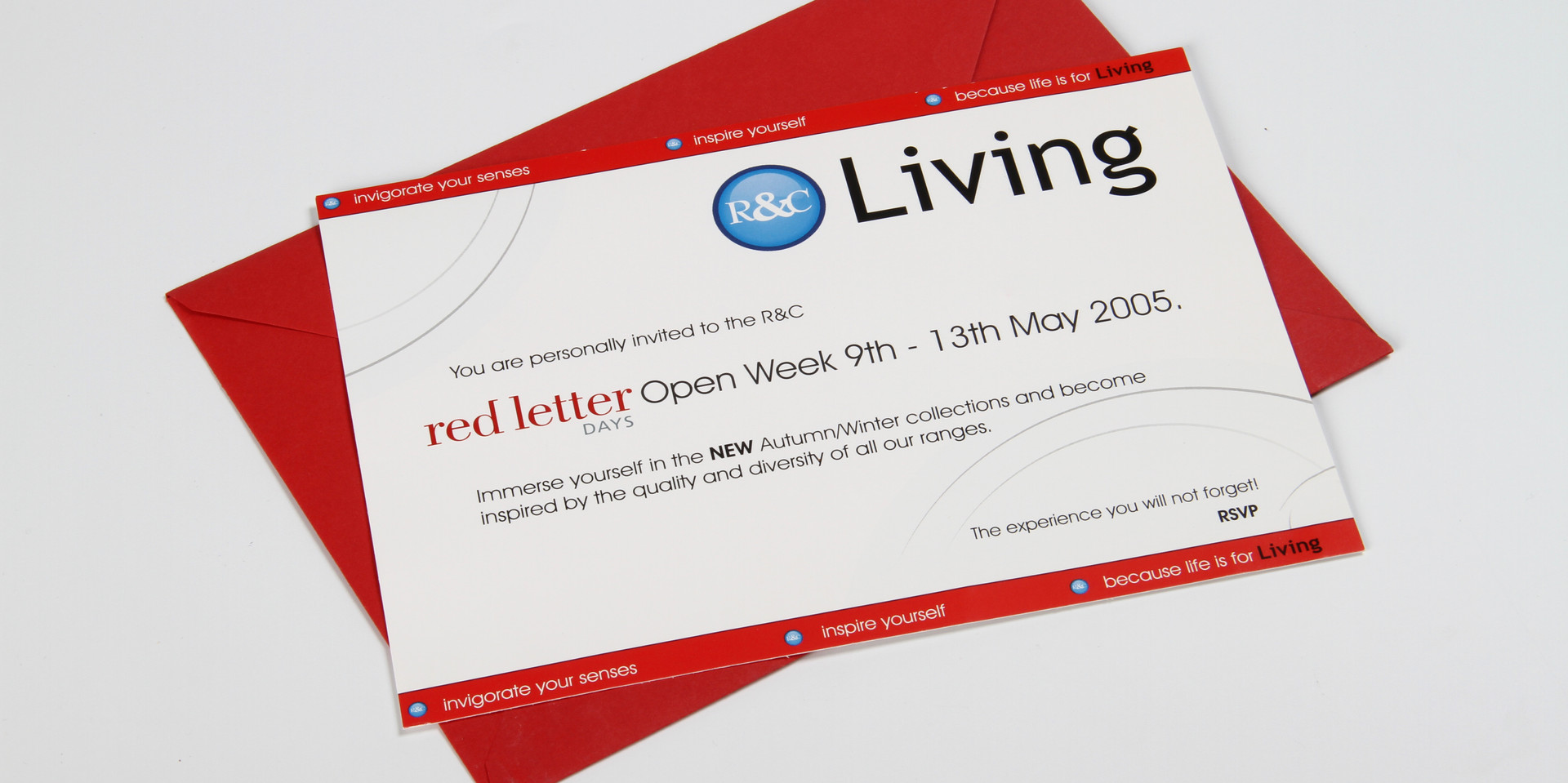R&C Living Red Letter Invitation